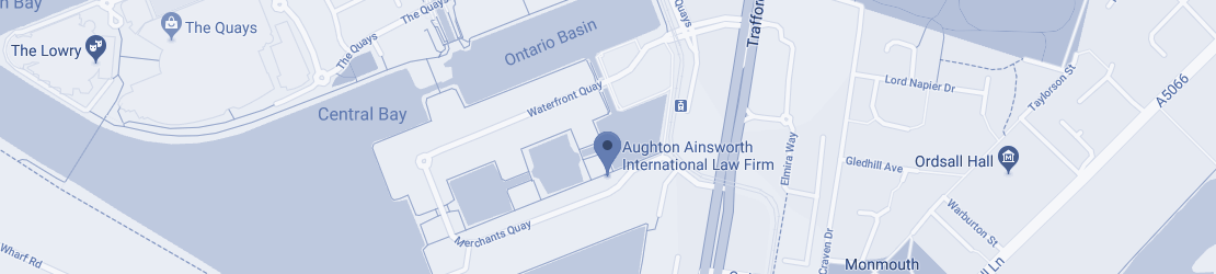 Aughton Ainsworth International Law Firm Map