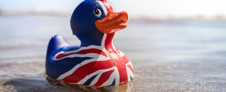 Union flag rubber duck
