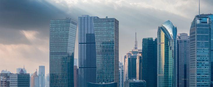 Modern finance building
